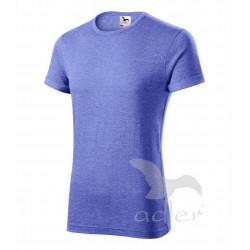 Tričko pánské FUSION modrý melír