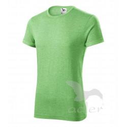 Tričko pánské FUSION zelený melír