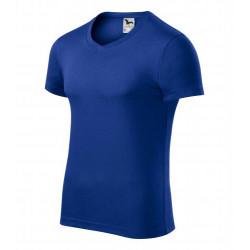 Tričko pánské SLIM FIT V-NECK královská modrá