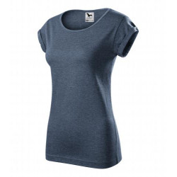 Tričko dámské FUSION tmavý denim melír