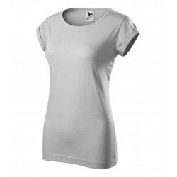 Tričko dámské FUSION stříbrný melír