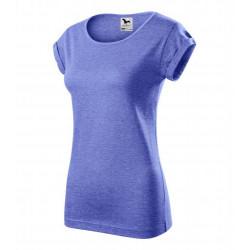 Tričko dámské FUSION modrý melír