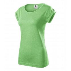 Tričko dámské FUSION zelený melír