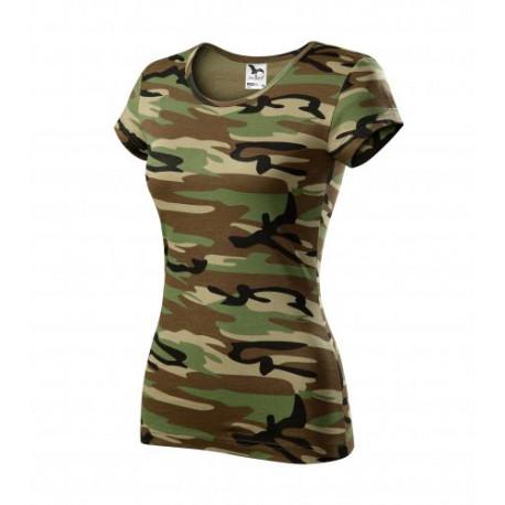 Tričko dámské PURE camouflage brown