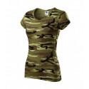 Tričko dámské PURE camouflage green