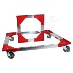 Vozík pro přepravky 86S-PP/4-0/KT červené rohy