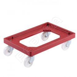 Vozík pro přepravky DOLLY 64 BE / 4-0 / KT červený