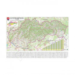 Mapa silniční Slovenské republiky - 120 x 83 cm