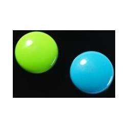 Super silné magnety - kulaté, zelené/modré, 2 ks