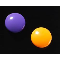 Super silné magnety - kulaté, fialové/oranžové, 2 ks