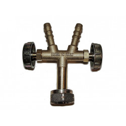 Plynový rozbočovač s ventily CZ