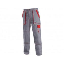 Pánské kalhoty CXS LUXY JOSEF, šedo-červené