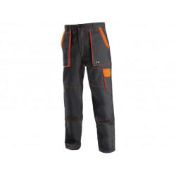 Pánské kalhoty CXS LUXY JOSEF, černo-oranžové