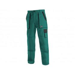 Pánské prodloužené kalhoty CXS LUXY JOSEF, zeleno-černé