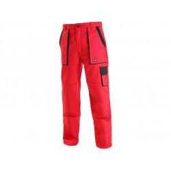 Pánské prodloužené kalhoty CXS LUXY JOSEF, červeno-černé