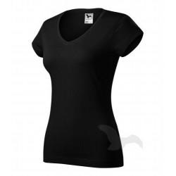 Tričko dámské FIT V-NECK černé