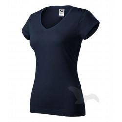 Tričko dámské FIT V-NECK námořní modrá