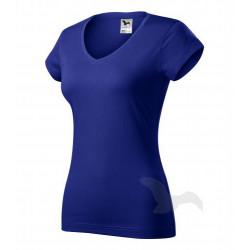 Tričko dámské FIT V-NECK královská modrá