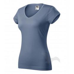 Tričko dámské FIT V-NECK denim