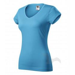 Tričko dámské FIT V-NECK tyrkysové