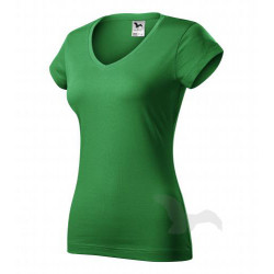 Tričko dámské FIT V-NECK středně zelené
