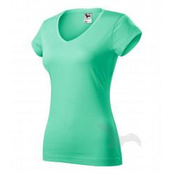Tričko dámské FIT V-NECK mátové