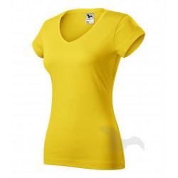 Tričko dámské FIT V-NECK žluté
