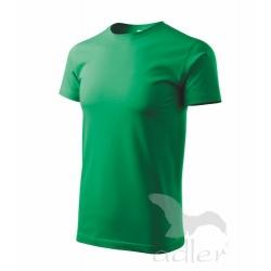 Triko Heavy New krátký rukáv -  středně zelená
