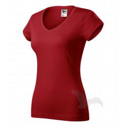 Tričko dámské FIT V-NECK červené