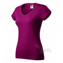 Tričko dámské FIT V-NECK fuchsia red