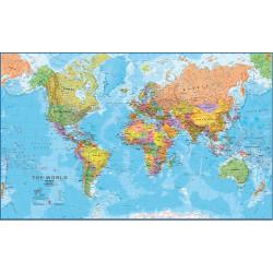 Mapa nástěnná Obří Svět politická - 200 x 120cm