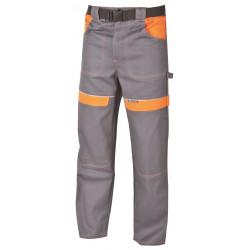 Pracovní kalhoty do pasu COOL TREND šedo-oranžové