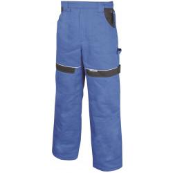 Pracovní kalhoty do pasu zimní COOL TREND modro-černé