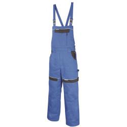 Pracovní kalhoty s laclem zimní COOL TREND modro-černé