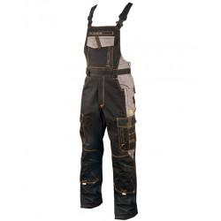 Pracovní kalhoty s laclem VISION 03 BLACK