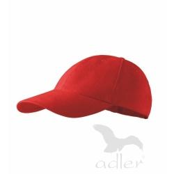 Kšiltovka 6P   červená