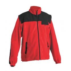 Pánská fleecová bunda RANDWIC 2v1, červená