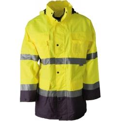 Výstražná bunda MAXWELL - žlutomodrá