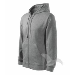 Mikina pánská Trendy Zipper - tmavě šedý melír