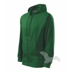 Mikina pánská Trendy Zipper - lahvově zelená
