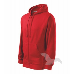 Mikina pánská Trendy Zipper - červená