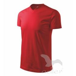 Tričko Heavy V-neck pánské  červené