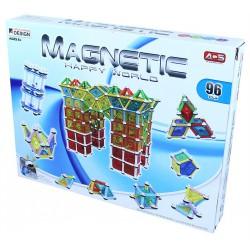 Stavebnice Magnetická 3D 96 dílků