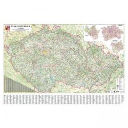 Mapa nástěnná ČR -  silniční 200 x 132 cm
