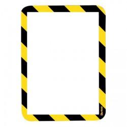 Kapsy magnetické bezpečnostní signální - žluto-černá ,2 ks