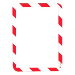 Kapsy magnetické bezpečnostní signální - červeno-bílá ,2 ks