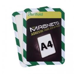 Kapsy magnetické bezpečnostní signální - zeleno-bílá ,2 ks