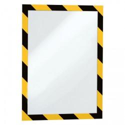 Rámeček samolepící DURAFRAME SECURITY -  žluto-černá, 2 ks