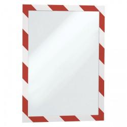 Rámeček samolepící DURAFRAME SECURITY -  červeno-bílá, 2 ks