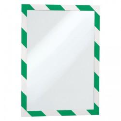 Rámeček magnetický SECURITY -  zeleno-bílá, 5 ks